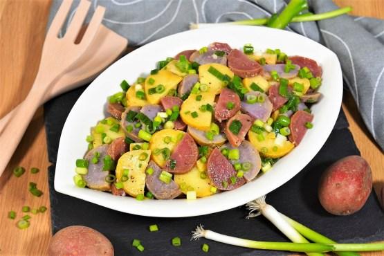 Rot-Lila-Gelb Kartoffelsalat-Rezept-ballesworld