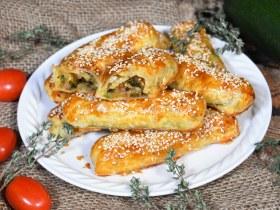 Blätterteig Röllchen mit gegrillten Zucchini-Rezept-ballesworld