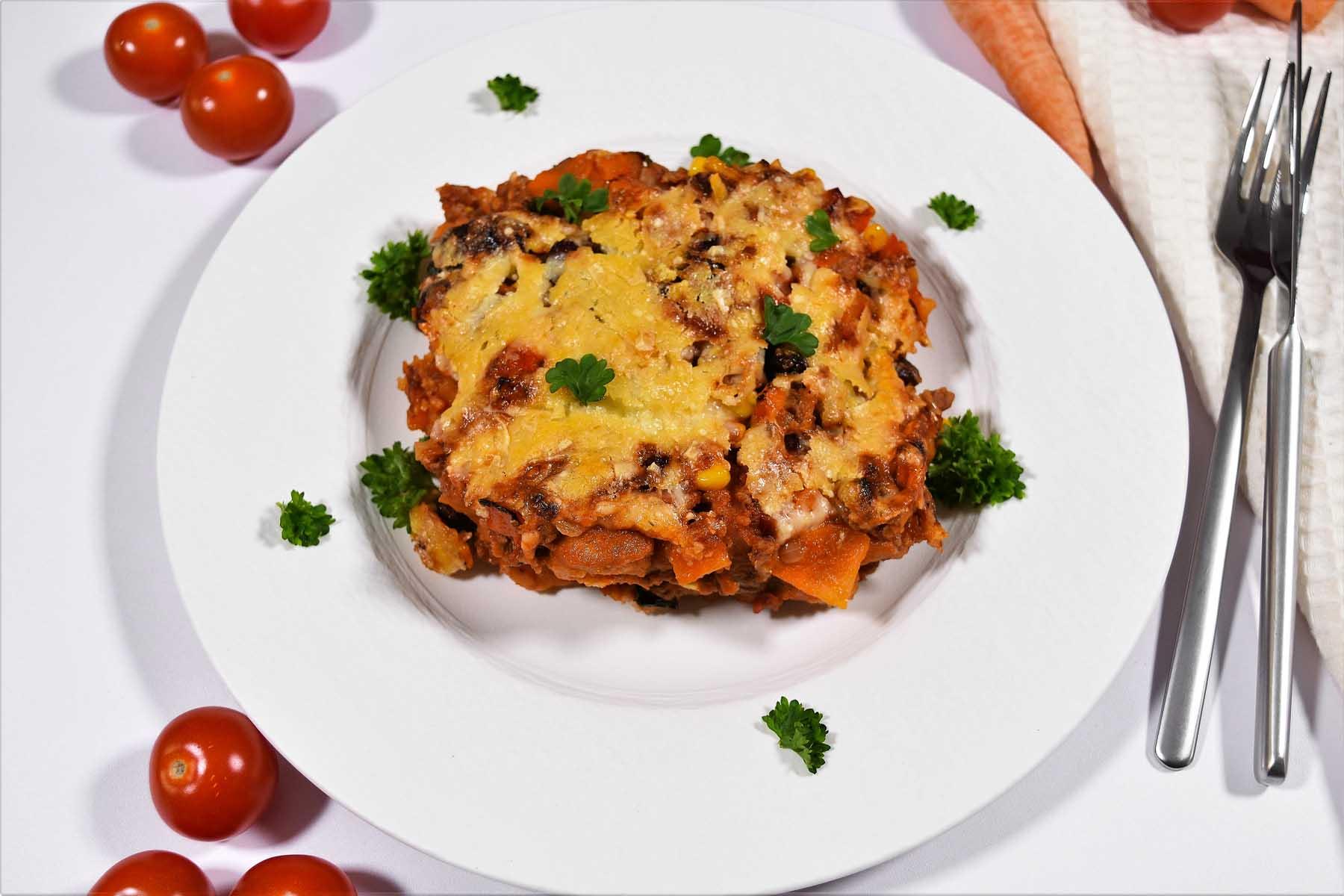 Brotauflauf a la Chili con Carne