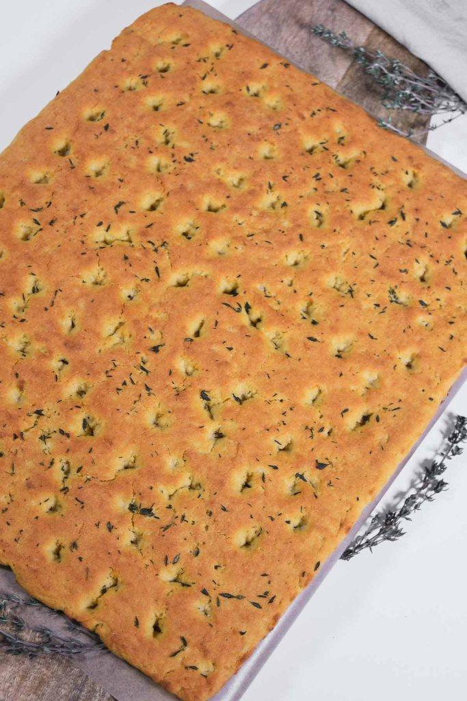 Focaccia aus Blumenkohl und Kichererbsen Mehl-Vegane-ballesworld