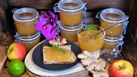 Apfel-Birne-Ingwer Marmelade