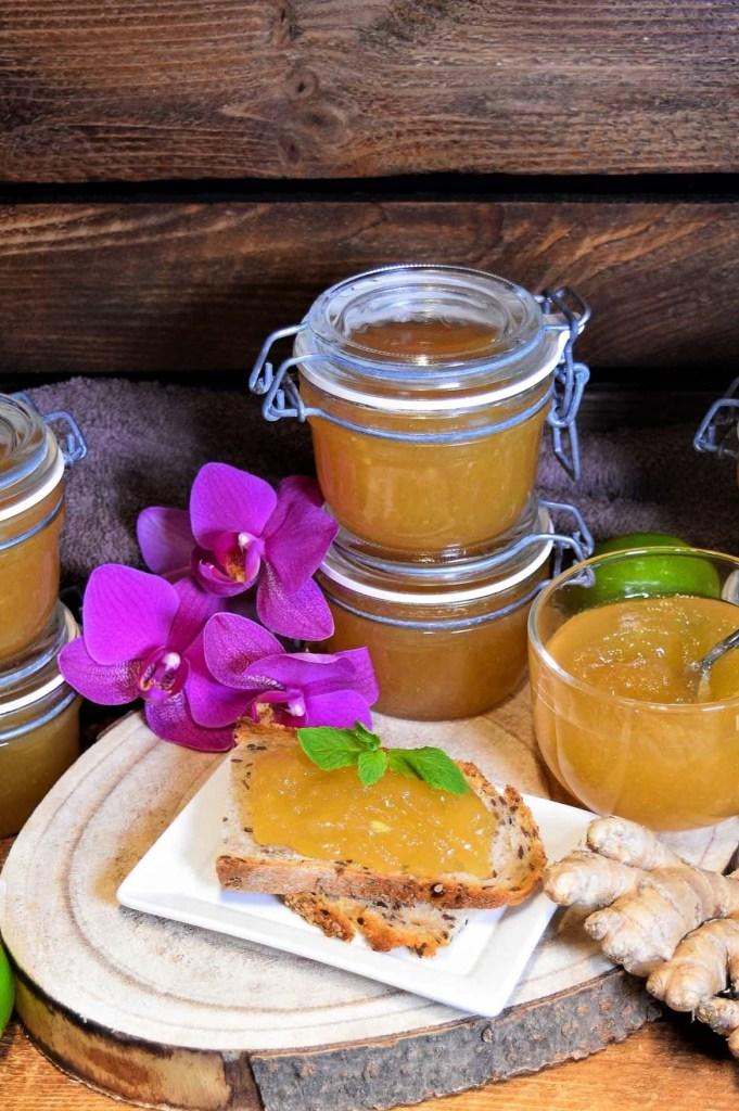 Apfel-Birne-Ingwer Marmelade-Jam-ballesworld