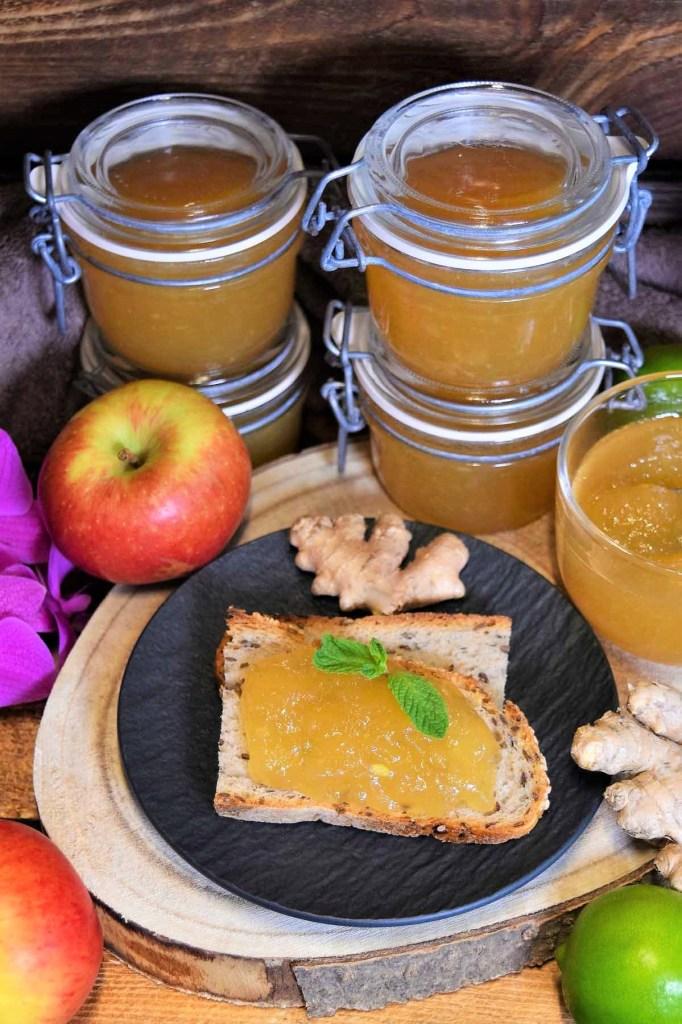 Apfel-Birne-Ingwer Marmelade-Konfitüre-ballesworld