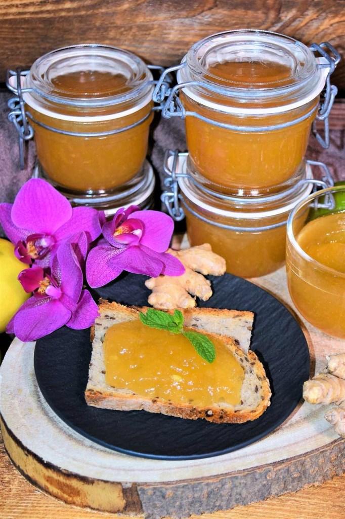 Apfel-Birne-Ingwer Marmelade-Resteverwertung-ballesworld