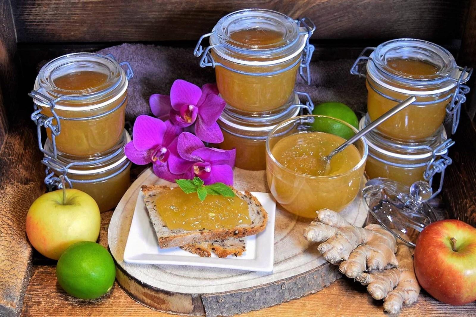 Apfel-Birne-Ingwer Marmelade-Rezept-ballesworld