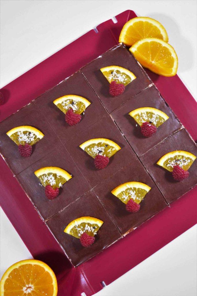 Orangen Schokoladen Kuchen Würfel-Backen-ballesworld