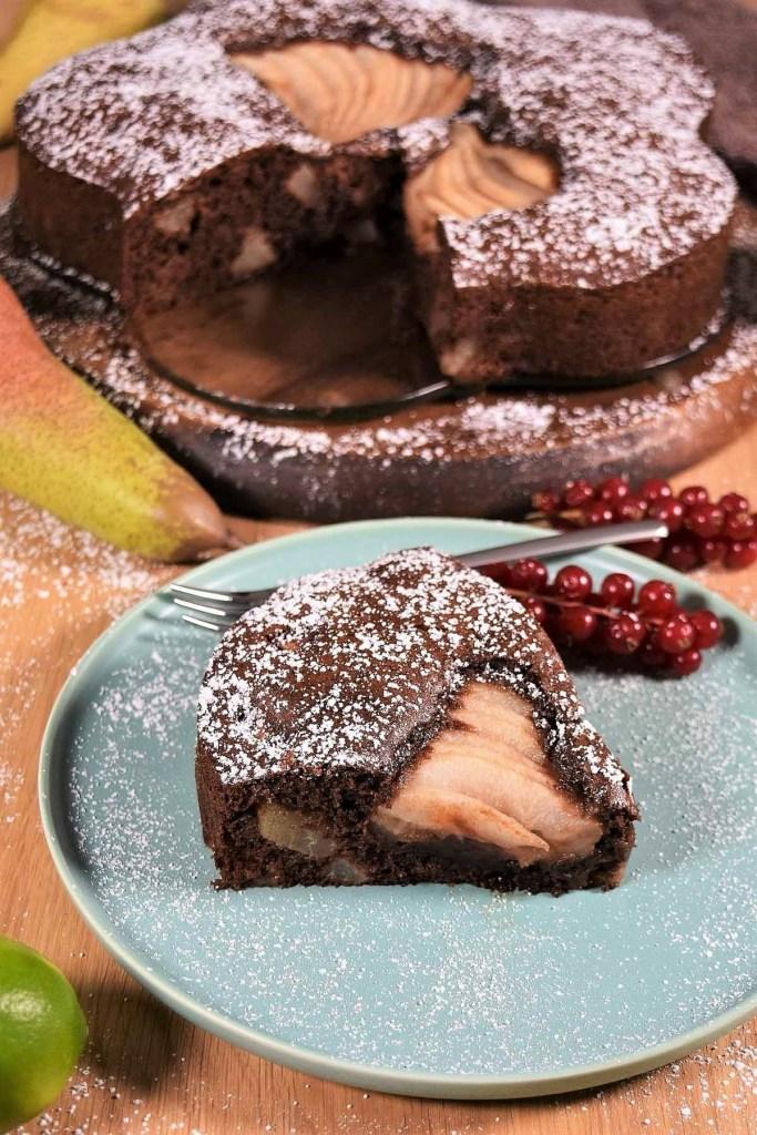 Schokolade-Birnen Kuchen-Torte-ballesworld