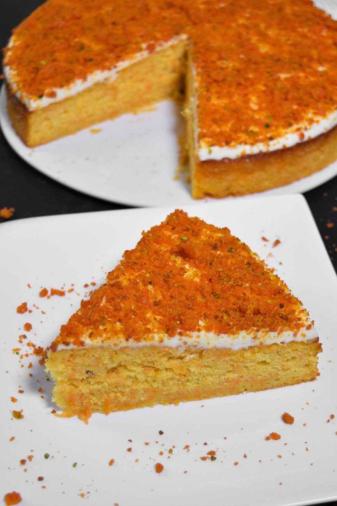Möhren Orangen Kuchen mit Crunch-Dessert-ballesworld