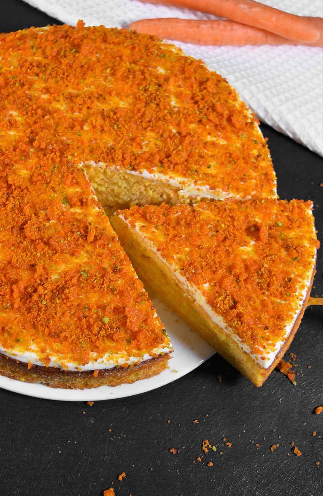 Möhren Orangen Kuchen mit Crunch-Osterkuchen-ballesworld