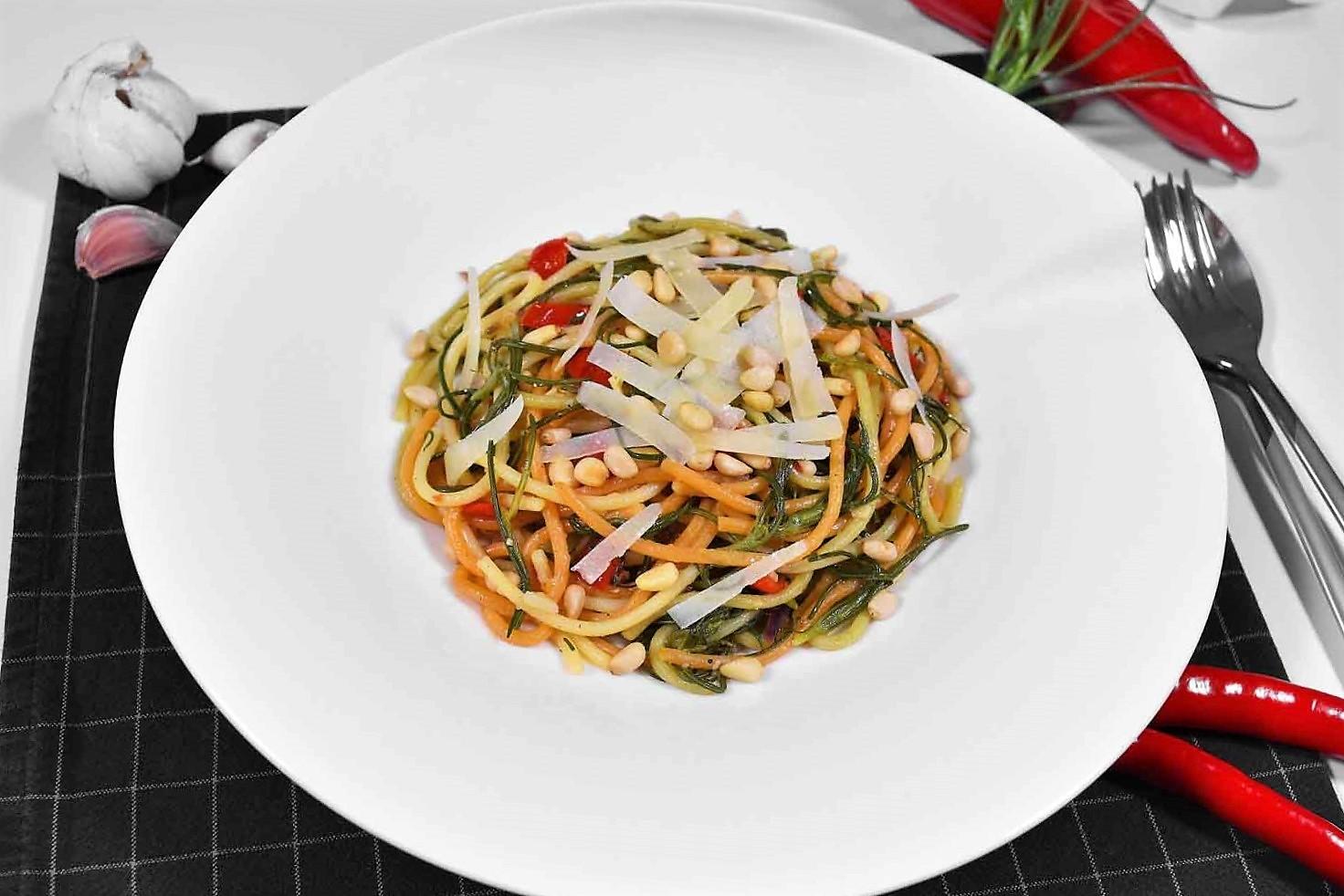 Mönchsbart-Knoblauch Spaghetti-Rezept-ballesworld
