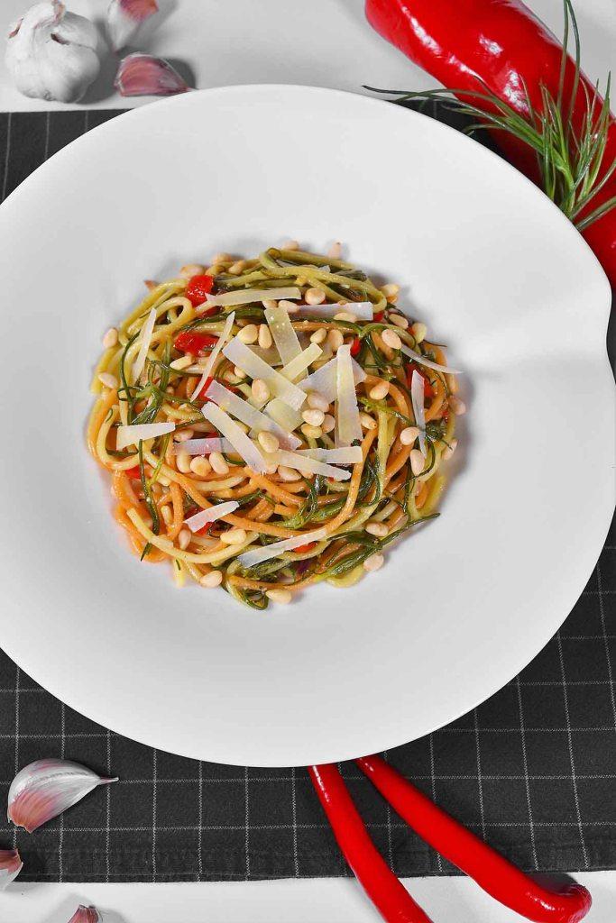 Mönchsbart-Knoblauch Spaghetti-Vegetarisch-ballesworld