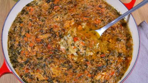 Ofen-Weißkohl mit Hähnchenfleisch-Anrichten-ballesworld