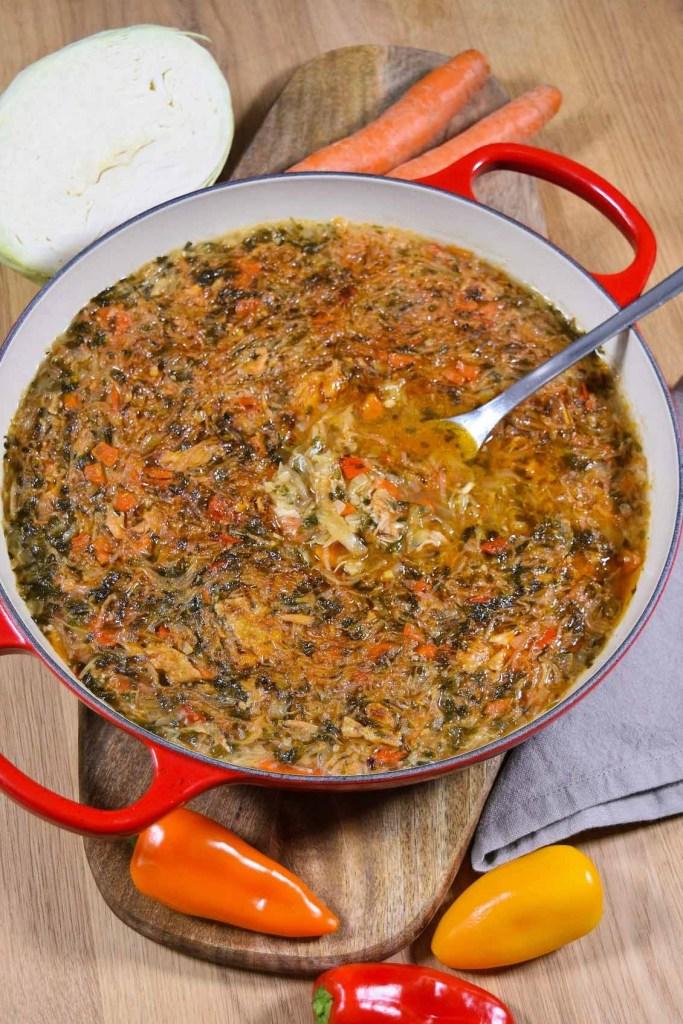 Ofen-Weißkohl mit Hähnchenfleisch-Auflauf-ballesworld