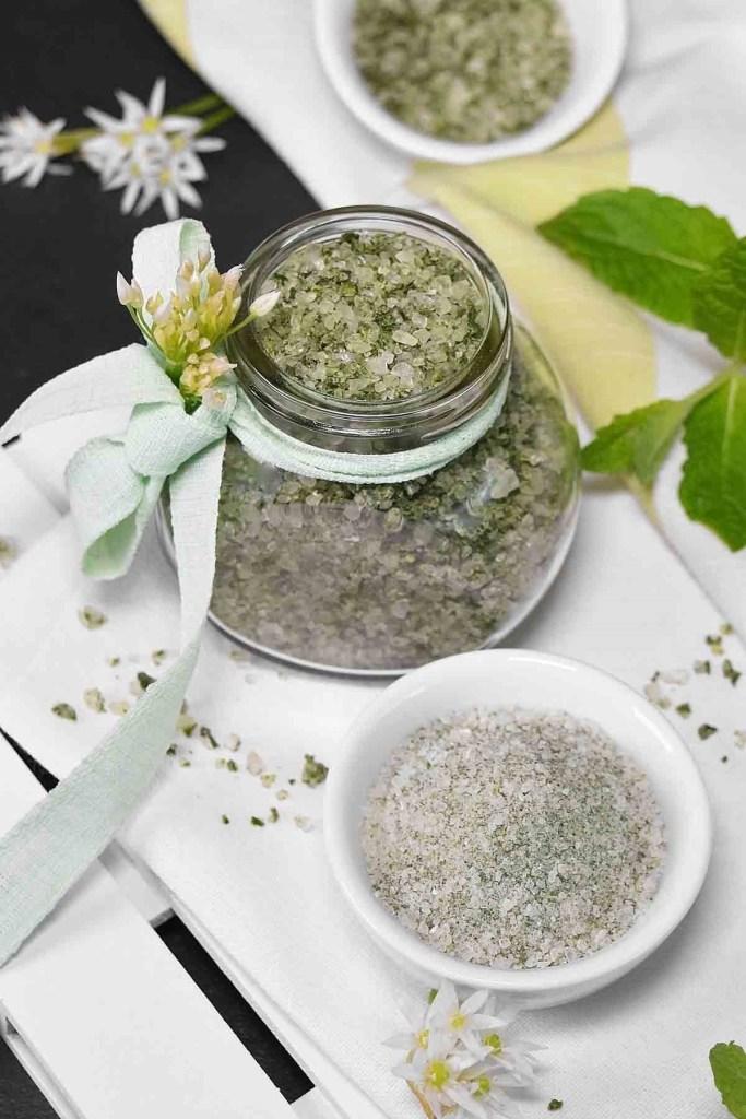 Bärlauch-Minze Salz-Kräutersalz-ballesworld