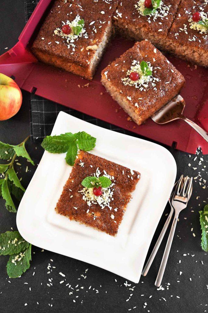 Apfel Walnuss Kuchen-Nachtisch-ballesworld