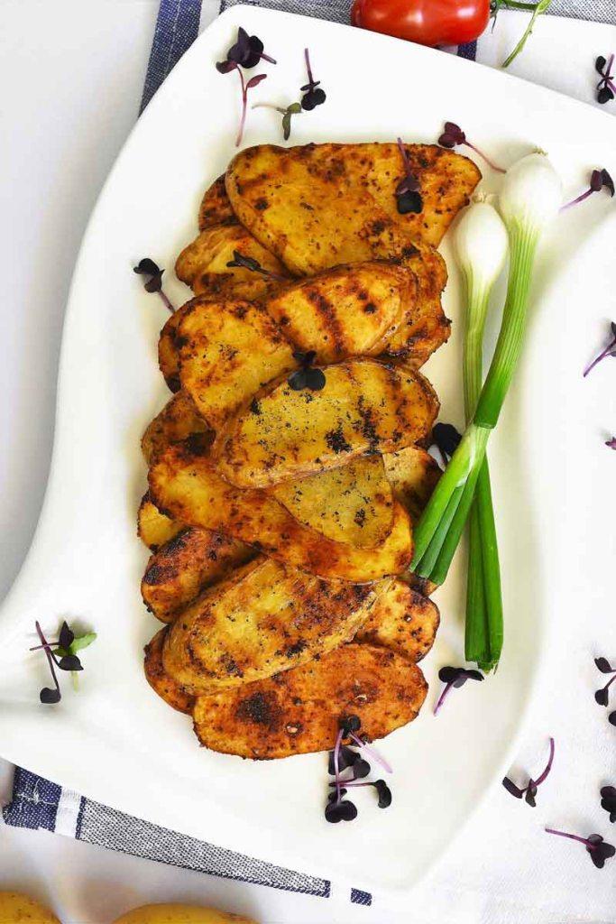 Kartoffelscheiben vom Grill-Vegan-ballesworld