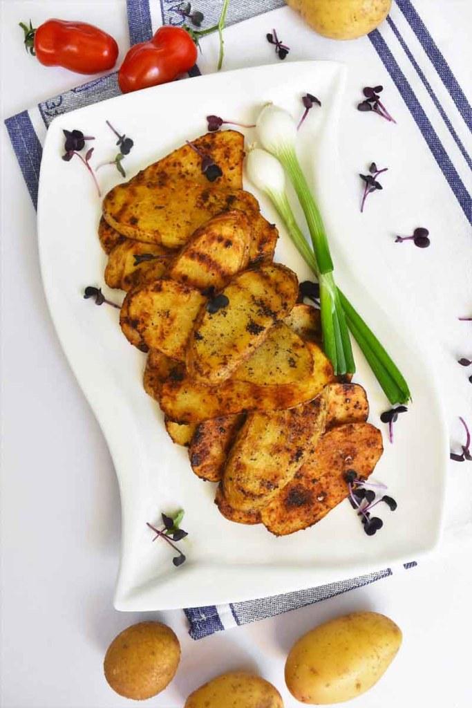 Kartoffelscheiben vom Grill-Vegetarisch-ballesworld