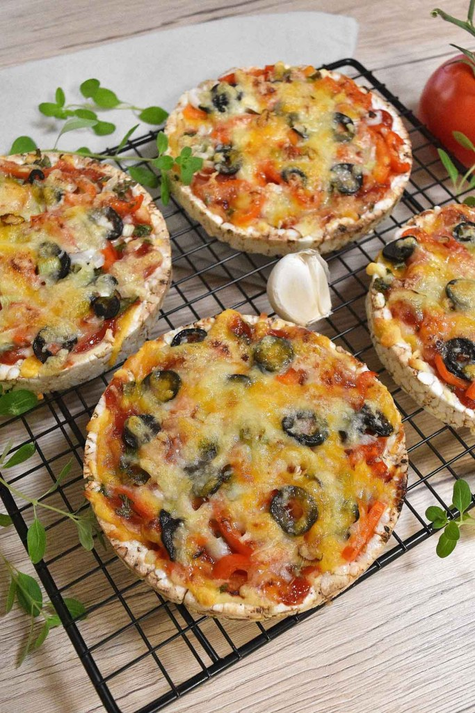 Reiswaffel Mini-Pizza-Fingerfood-ballesworld