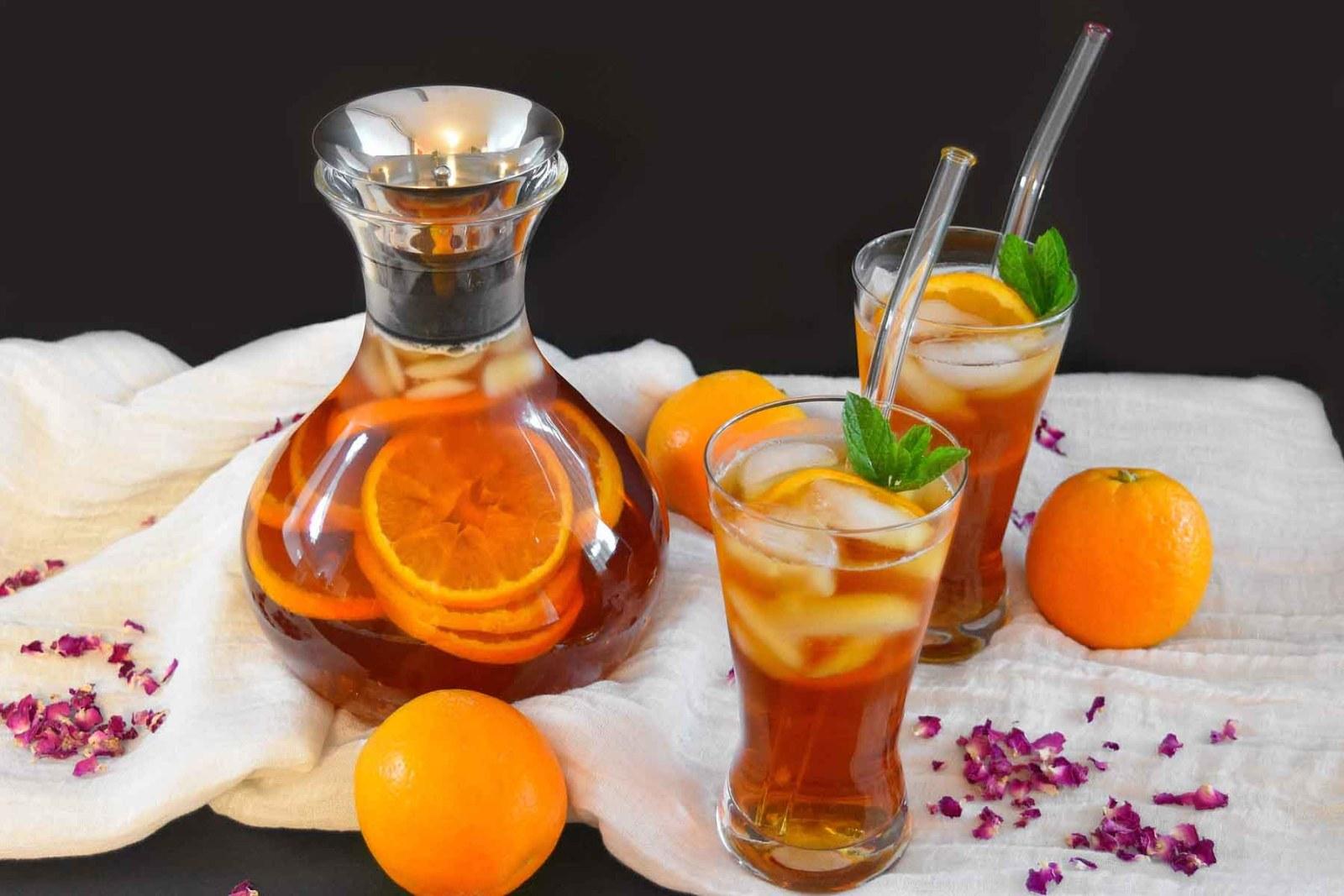 Rosen-Orangen Eistee-Rezept-ballesworld