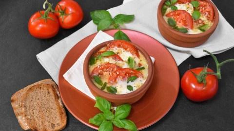 Tomate Mozzarella vom Grill-Anrichten-ballesworld