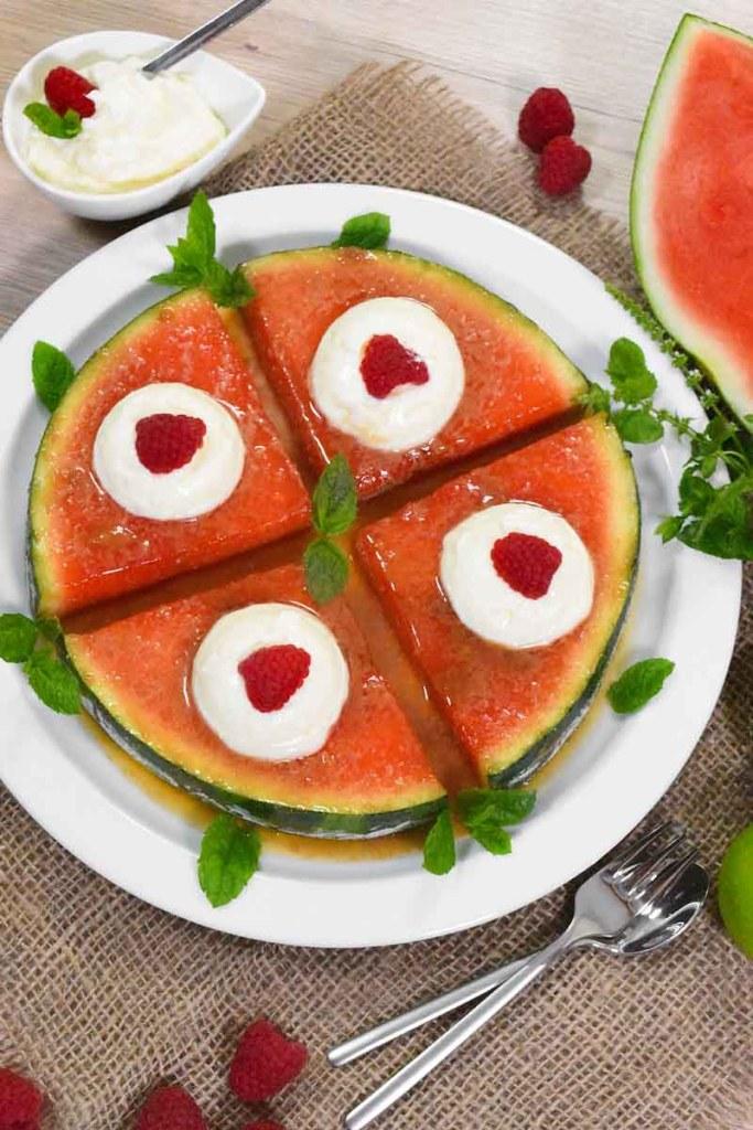 Karamellisierte Wassermelone-Nachtisch-ballesworld
