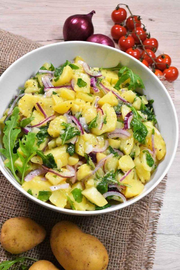 Warmer Kartoffelsalat mit Rucola-Gesund-ballesworld