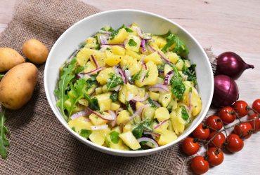 Warmer Kartoffelsalat mit Rucola-Rezept-ballesworld