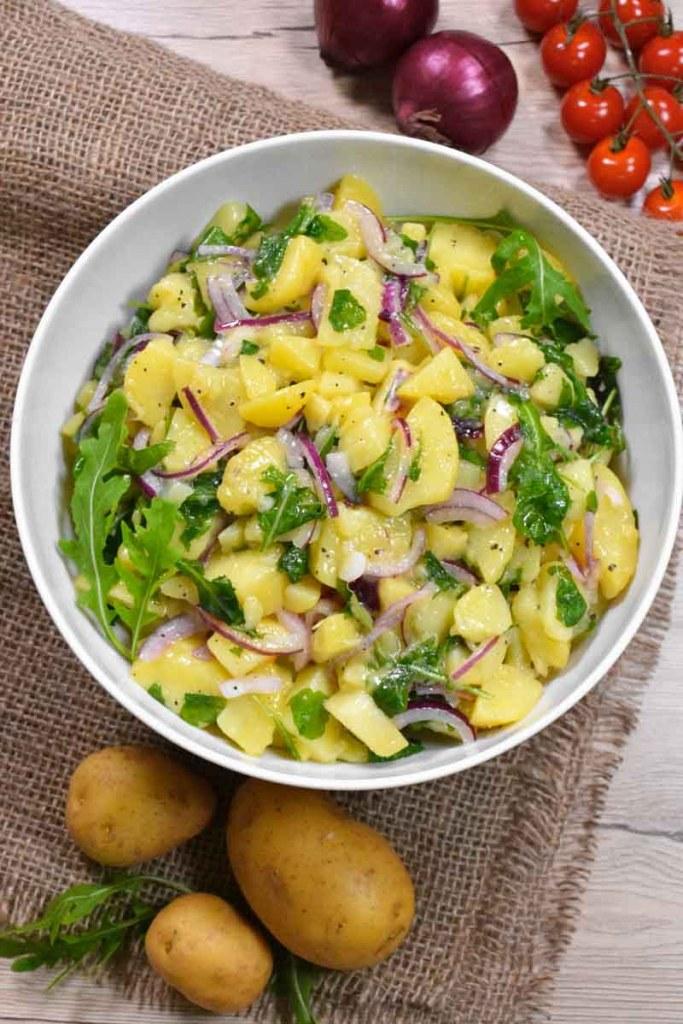 Warmer Kartoffelsalat mit Rucola-Vegetarisch-ballesworld