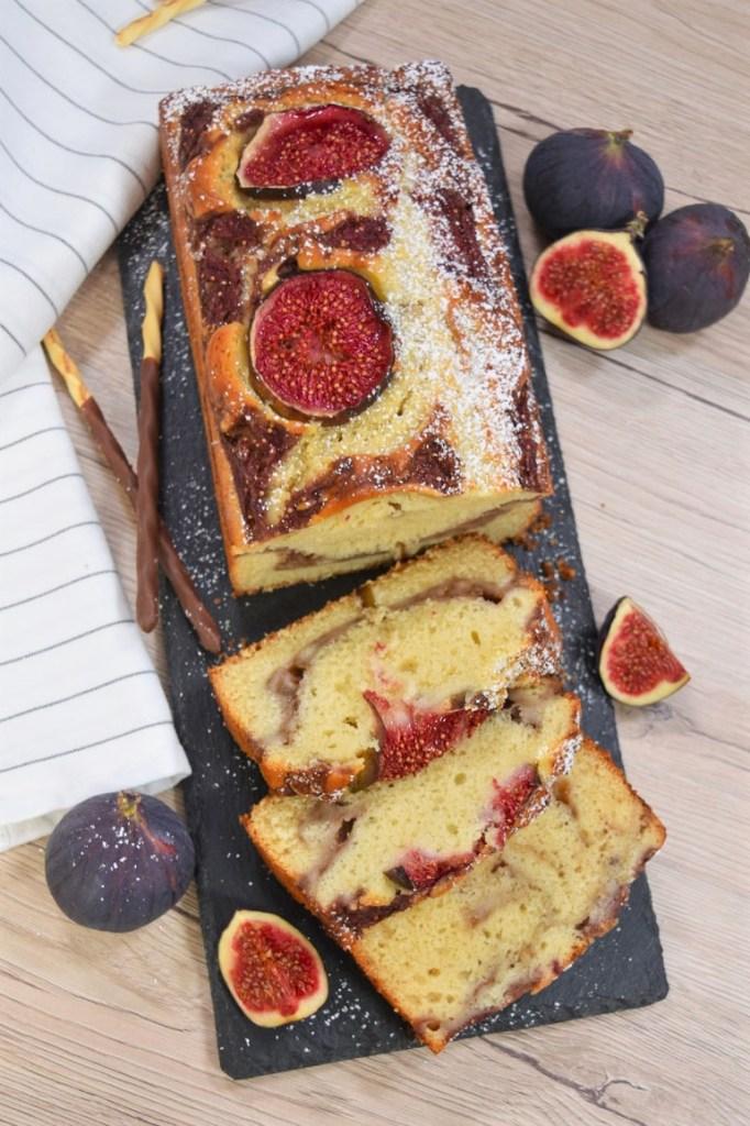 Kastenkuchen mit frischem Feigenmus-Kuchen Backen-ballesworld