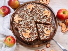 Veganer Apfel-Kokos Kuchen-Rezept-ballesworld