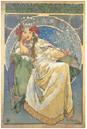 アルフォンス・ミュシャ 《ヒヤシンス姫》1911年 カラーリトグラフミュシャ財団蔵 ©Mucha Trust 2019