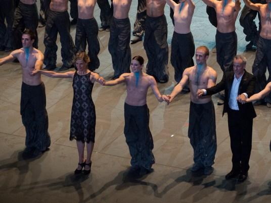 Crystal Pite et ses danseurs, Vincent Chaillet, Marie-Agnès Gillot et François Alu