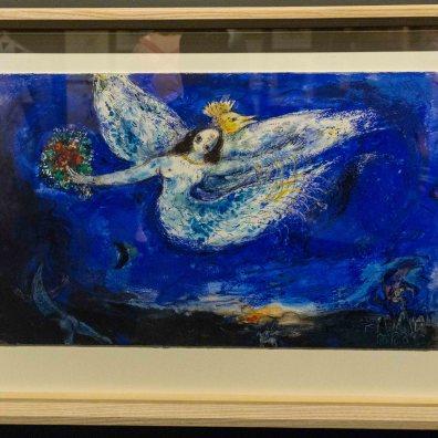 Firebird ballet backdrop sketch by Marc Chagall