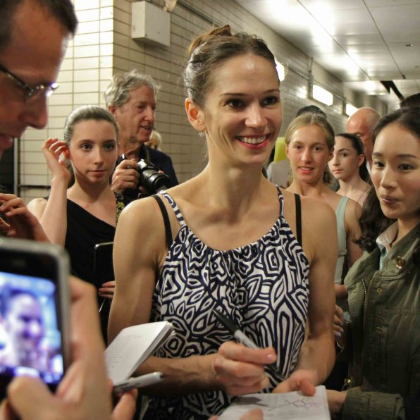 Stage door Lincoln Center, Chasing Reggie Jackson, Polina Semionova