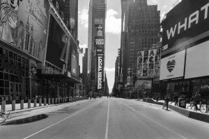 Times Square, Photos of New York City in COVID Quarantine