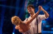 WARNING: Embargoed for publication until 20:30:00 on 12/12/2015 - Programme Name: Strictly Come Dancing 2015 - TX: 12/12/2015 - Episode: n/a (No. n/a) - Picture Shows: **DRESS REHEARSAL** EMBARGOED FOR PUBLICATION UNTIL 20:30 HRS ON SATURDAY 12TH DECEMBER 2015 Aliona Vilani, Jay McGuiness - (C) BBC - Photographer: Guy Levy