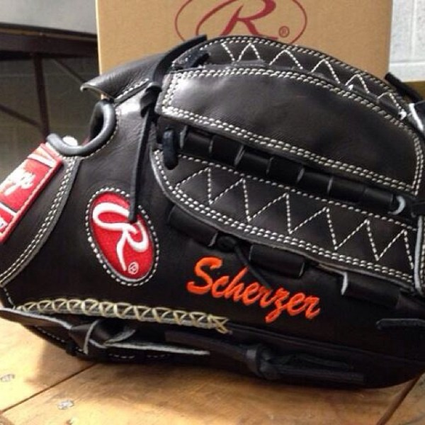 Max Scherzer's Gloves: Rawlings Heart of the Hide PRO12DHJB