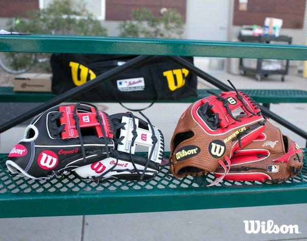 Zack Cozart's Gloves/Brandon Phillips' Gloves