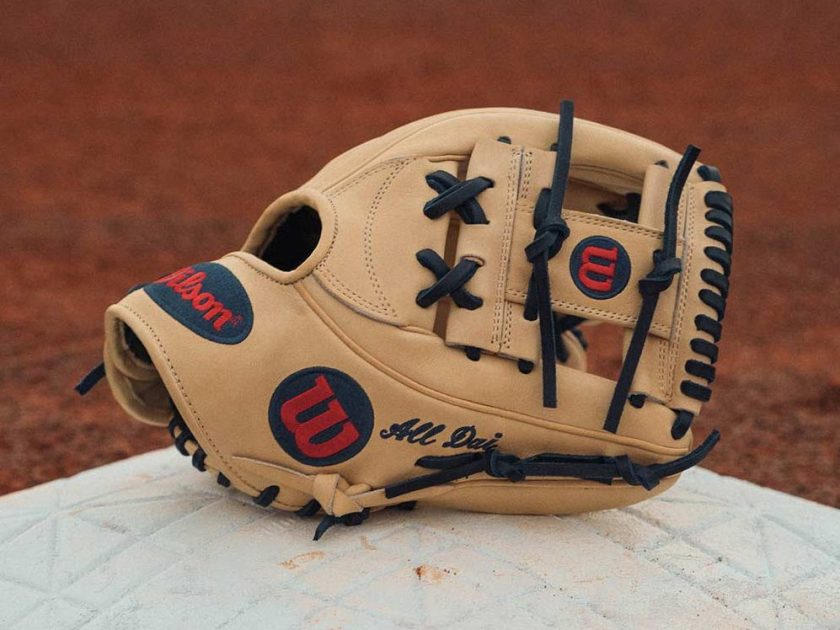 Dansby swanson 39 s glove s custom wilson a2k 1787 and for Swanson s fish market
