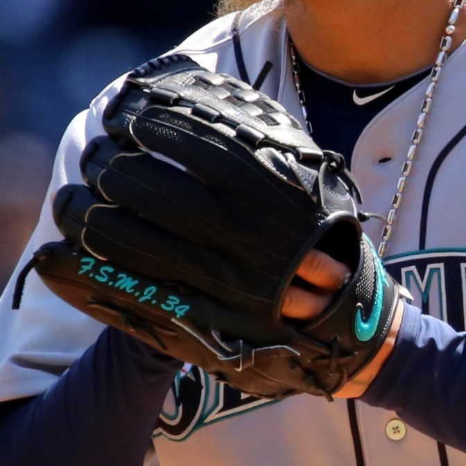 Felix Hernandez' Glove: Custom Nike Sha-do Elite J