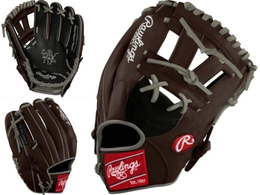 Manny Machado glove: Black/Chocolate/Gray