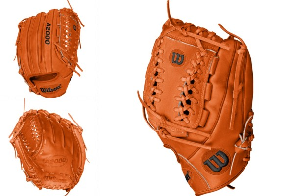 Jose Fernandez' Gloves Orange