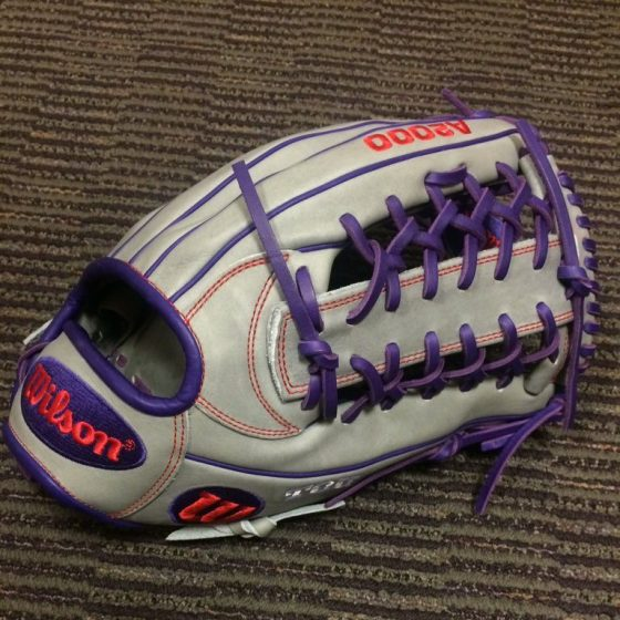 TCU's Wilson Gloves: Gray and Purple KP92