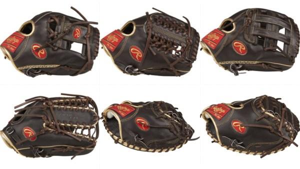 Rawlings Pro Preferred Mocha/Gold Gloves