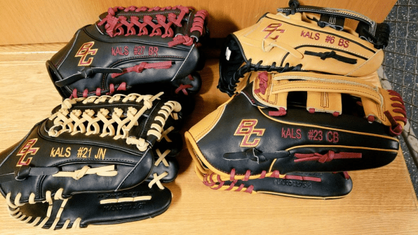 Boston College Easton baseball gloves