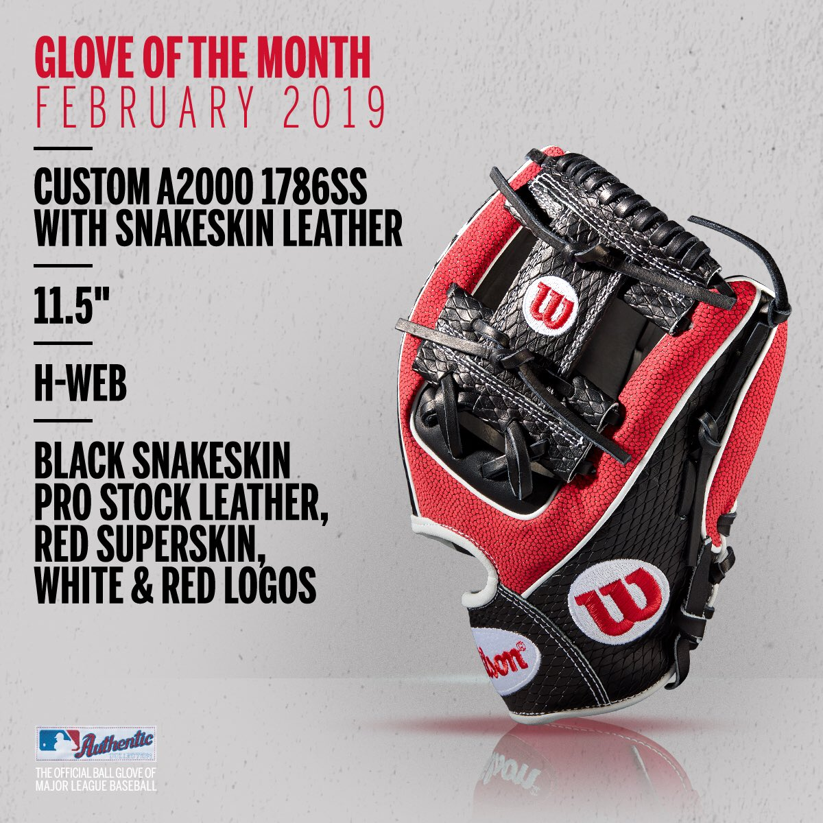 Wilson Glove of the Month February 2019