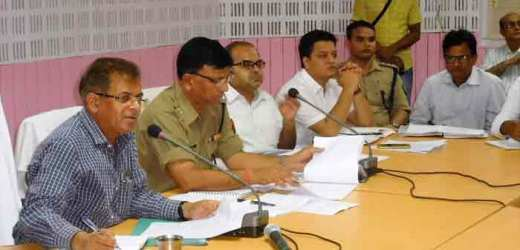 विभिन्न त्यौहारों के दृष्टिगत जिलाधिकारी की अध्यक्षता में शांति समिति की बैठक हुई