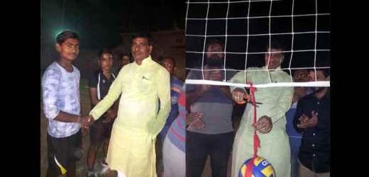 रात्रि कालीन बालीबाल प्रतियोगिता का उद्घाटन मैच श्रीनगर ने जीता