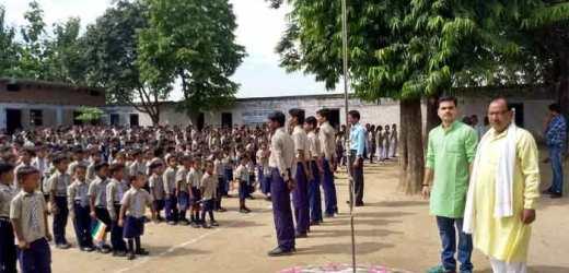 राधिका विलास में छात्रों ने उत्साह उमंग के साथ मनाया स्वतंत्रता दिवस