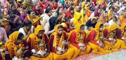 लोक कल्याण की कामना के साथ जिले के 1008 घरों में एक साथ एक समय पर गायत्री महायज्ञ